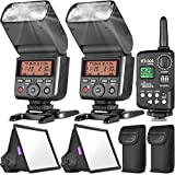 """Altura Photo Professional Flash Set for Sony Mirrorless Cameras (2Pcs) 2.4GHz TTL AP-305S Camera Flash, (2Pcs) Flash Diffuser Light Softbox 6x5"""" and Wireless Manual Trigger for Sony Alpha"""