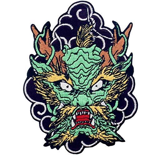 Parche termoadhesivo para la ropa, diseño de El Dragón Rugiente