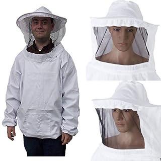 MINASAN Imkeranzug, Imker Schutzanzug Imker Jacke Hut Schleier Handschuhe Jacke Zaunschleier Schleier Overall Bienenenschutz Anzug Smock
