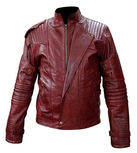 Guardians of the Galaxy 2 Star Lord elegante chaqueta de cuero real
