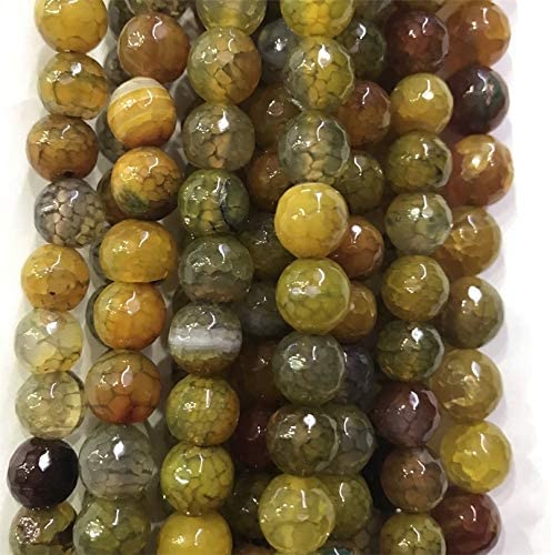 BDI166052 Beadings 1 5 10Strand Faceted Omaha Mall Yellow Effloresce Smooth Ranking TOP7