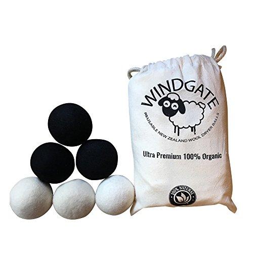 Ultra Premium 100% Organic Reusable New Zealand Wool Dryer Balls