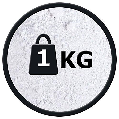 Titanweiss Rutil - Oxidweiß Pigmentfarbe Oxidpigment Titandioxid Eisenoxid Weißmacher Trockenfarbe - 1kg Beutel - zum Einfärben von Beton, Estrich, Putz, Epoxidharz uvm