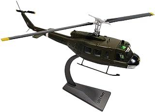 dailymall 塗装モデル ヘリコプター 1/48 UH-1ヒューイヘリコプター モデル 飛行機 テーブル デコレーション置物