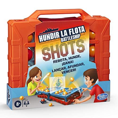 Hasbro Gaming- Hundir La Flota Shots Juego de Estrategia, Multicolor (E8229175)