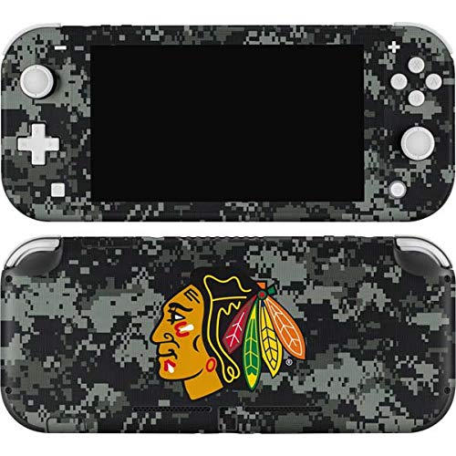 Skinit Decal Gaming Skin Compatible with Nintendo Switch Lite - Officially Licensed NHL Chicago Blackhawks Camo Design