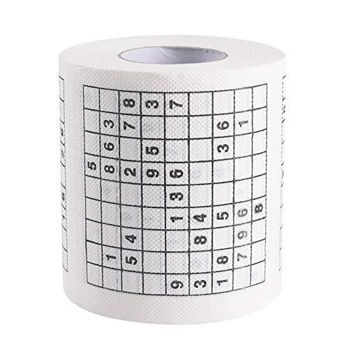 Turbobm Toilettenpapier, Rollenpapier, Seidenpapier, haltbares Sudoku Su bedrucktes Seidenpapier Toilettenpapier Neuheit Geschenk Haut sauber