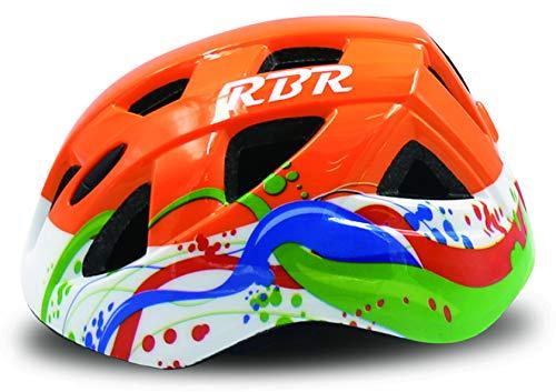 RBR Casco Infantil Homologado CE EN1078 Mod. Win (Naranja) ⭐