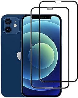 3- عبوة واقي شاشة لـ iPhone 12/12 Pro، Mini & Pro Max [تغطية الحافة إلى الحافة] زجاج HD مقاوم للكسر بحماية كاملة (لهاتف iP...