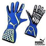 PUMA レーシンググローブ Kart Cat2 BLUE/YELLOW サイズ8(XS)