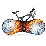 ZYQDRZ Tapa De Bicicletas De La Serie De Fútbol, Cubierta De La Rueda De Cubierta De Polvo De Bicicleta Interior, Cubierta Protectora para Proteger El Neumático De La Bicicleta Y La Cadena,A