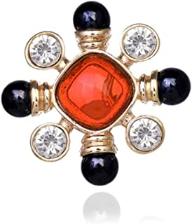 N/W Big Cross Brooch Vintage Rhinestone Pins and Brooches Bouquet Brooch For Women Clothes Scarf Pin Clip Jewelry