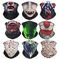 VCZUIUC Headband Skull Face Mask Bandanas, Multi Functional Skeleton Headwear