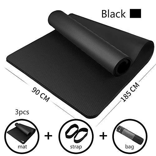 Yoga Matte 185 * 90Cm Vergrößerte Yogamatte 15Mm Verdickende Nbr Fitness Matte Für Yoga Anfänger...