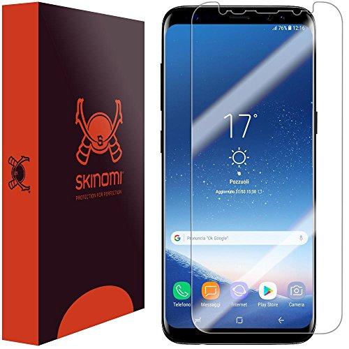 Skinomi Screen Protector Compatible with Galaxy S8 Plus (S8+)(Non Case-Friendly)(Full Coverage) Clear TechSkin TPU Anti-Bubble HD Film