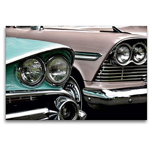 Premium Dodge Coronet & Plymouth Belvedere - Lienzo decorativo (120 x 80 cm, horizontal), imagen sobre bastidor