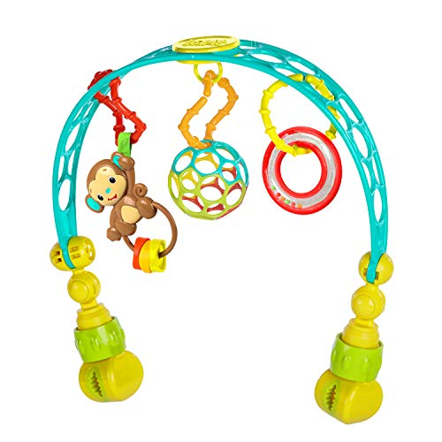 oball Bright Starts/Kids Ii 81536 Arco Gioco da Passeggino Flex 'N Go Activity Arch, Multicolore