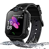 Kids Smart Watch, Enow IP67 Waterproof LBS Tracker Children Smartwatch for 3-12 Years Old, with SOS Call Camera Flashlight Alarm Activity 1.44'' Touch Screen, Christmas Birthday Gifts for Kids