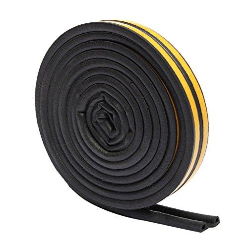 Fensterdichtung Dichtband Profildichtung Gummidichtung Türdichtung EPDI Dichtung, Auswahl - P 9x5.5mm Schwarz