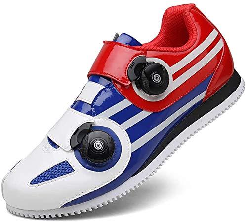 JINFAN Road Cycling Shoes,Men's Bicycle Shoes,Lightweight Wear Resistant Bike Footwear Road Bike Shoes Mountain Bike Shoe,Blue-46