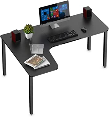 Eureka Ergonomic L-Shaped Corner Desk 60 inch PC Computer Desks, Large Gaming Table with Mouse Pad, Modern Writing Workstation for Home Office Gaming/Working, Black