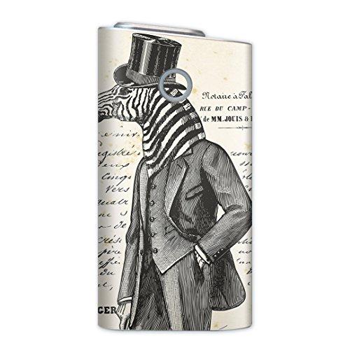 glo グロー グロウ 専用スキンシール 裏表2枚セット カバー ケース 保護 フィルム ステッカー デコ アクセサリー 電子たばこ タバコ 煙草 喫煙具 デザイン おしゃれ glow その他 シマウマ 英語 文字 006248