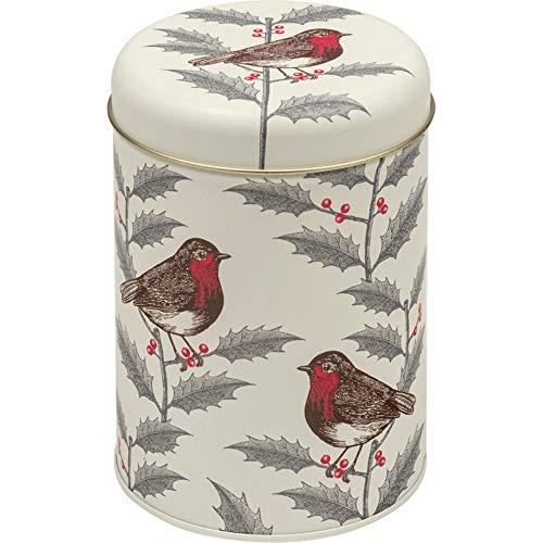 Thornback & Peel Kerstmis HELLIJK & ROBIN Ronde Thee Koffie Suiker Caddy/Koekje Koekje Keuken Container - 15cm