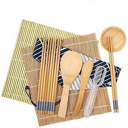 10x DIY Sushi Making Kit Rice Roller Mold Set for Beginners Kit Kitchen Tools DE