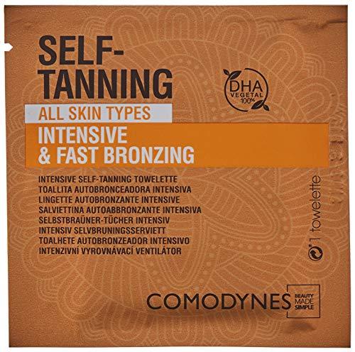 Comodynes - Toallitas Autobronceadoras Faciales y Corporales - Intensive - Para Todo Tipo de Pieles - 8 uds