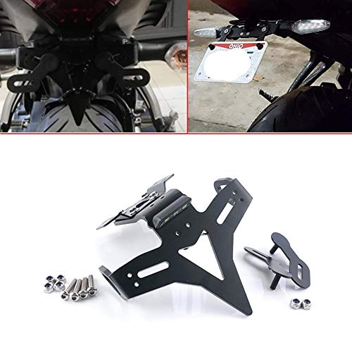 License Plate Holder Motorcycle Accessories Tail Tidy Fender Eliminator License Plate Bracket For Yamaha MT-07 FZ-07 2014-2020 MT-07 MOTO CAGE 2015-2018