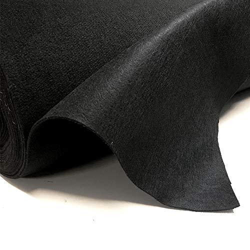 Tappeto al metro (1mt x 1.60 mt di altezza) per esposizioni, fonoassorbente, morbido (nero)