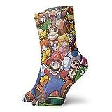The Legend Of Zelda Superhero Super Mario Smash Bros Calcetines Unisex Adulto Casual Crew Calcetines Anime Impresión Crew Calcetines