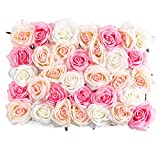 Flowers Wall Decor 3D Pink Flower Wall Panel (12'x16') Silk Rose Flowers for Wedding Backdrop, Bridal Shower, Baby Girls Room, Nursery, Rose Wall Decor, Pink Room Décor (Premium Silk Rose Flowers)