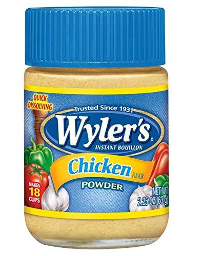 Wyler's Chicken Instant Bouillon Powder (2.25 oz Jars, Pack of 24)