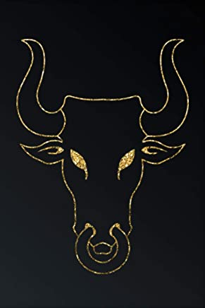 Gold Bull Head Silhouette: Gold Bull Head Silhouette: Gray Softcover Note Book Diary | Lined Writing Journal Notebook | Pocket Sized | 200 Pages