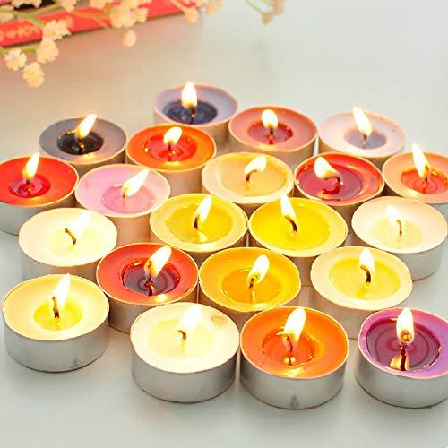 Alician - Juego de 100 velas de té pequeñas y románticas y creativas de frutas
