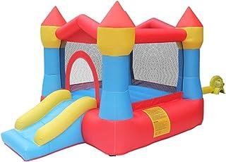 Castillos inflables For Niños Trampolín Inflable Al Aire Libre Hogar Pequeño Diapositivas Entre Padres E Hijos Zona De Juegos (Color : Red, Size : 265 * 190 * 170cm)