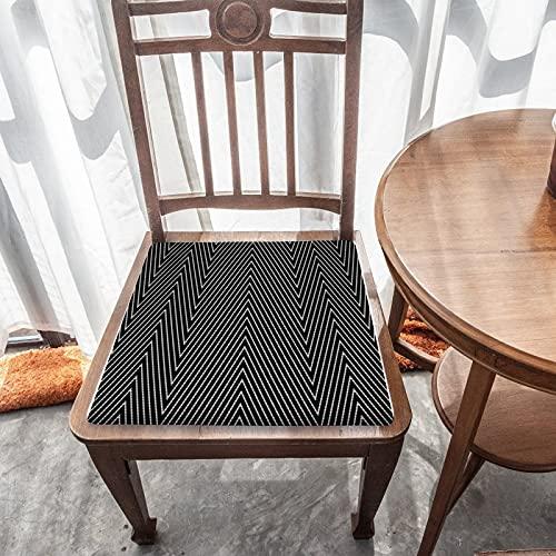 Cojín de asiento extraíble para decoración del hogar duradero para exteriores, jardín, patio, cocina, oficina, cojín cuadrado lavable, cómoda funda de silla, Zig Zag moderno Chevron