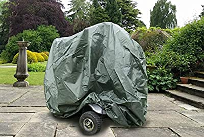 Large Mobility Scooter Cover 120 Denier Wheelchair Storage Protection Green 147 x 71 x 140 cm LWH Waterproof Breathable