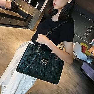 WTYD Single Shoulder Bag Casual PU Shoulder Bag Ladies Handbag (Black) (Color : Green)