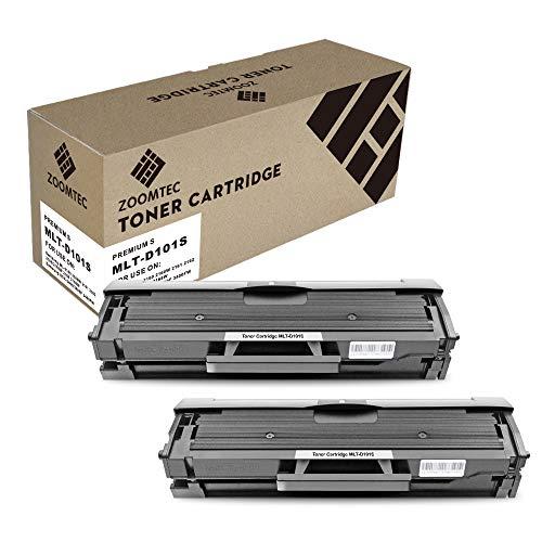 ZOOMTEC MLT-D101S Toner compatibile per Samsung ML-2160 ML-2161 ML-2162 ML-2165 ML-2165W ML-2168 SCX-3400 SCX-3400F SCX-3401 SCX-3405 SCX-3405FW SCX-3405W SCX-3405F SF-760P SF-765P(2 Pacco)