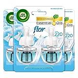 Air Wick Eléctrico - Recambios de ambientador automático eléctrico, esencia para casa con aroma a Flor Ropa Limpia - 83 g - Pack de 6