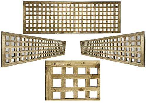 PGS Elite Highgrove Square Trellis in 5 sizes garden lattice Urban Trellis contemporary Garden Fence (183cm wide x 120cm tall (6x4))
