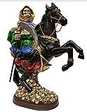 14' Rainbow 7 Colors Santa Santisima Muerte Holy Death Grim Reaper Horse Statue