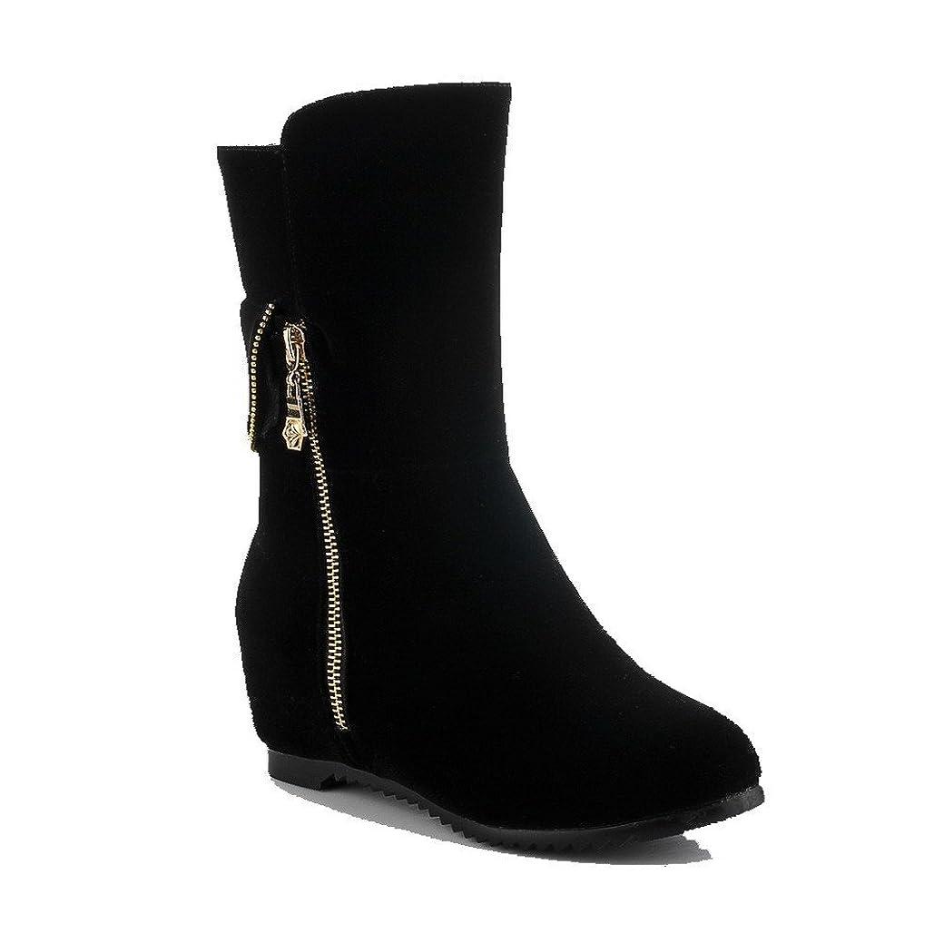 目に見える贅沢規範[オールエイチキューファッション] ジッパー プルオン ウィメンズ ミドルブーツ F2AQXE027124