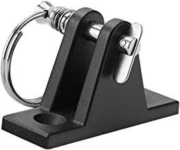 D DOLITY Nylon Marine Boat Cover Deck Hinge with Quick Release Removable Pin & Ring, Bimini Top Fitting, Black