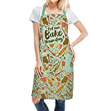 Lavley Funny Men's & Women's Kitchen Aprons - Gift For Grilling, Baking & BBQ (Let Me Bake Your Day)