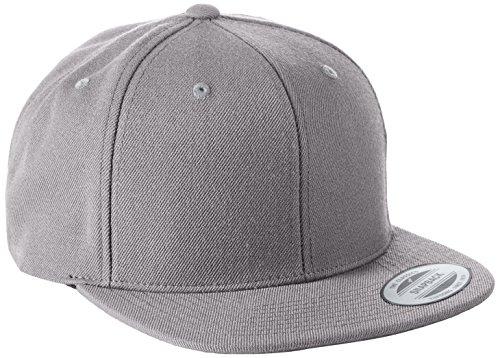 Flexfit Classic Snapback Cap, Mütze Unisex Kappe für Damen und Herren, One Size, Farbe silver