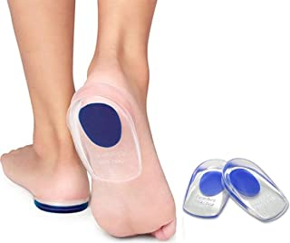 Skudgear 2 Silicone Gel Heel Pads Protector Insole Cups For Plantar Fasciitis Heel Swelling Pain Relief Foot Care Support ...