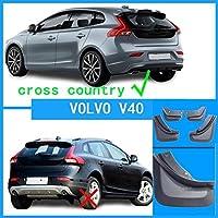 タイヤフェンダー ボルボXC60 XC40 XC90 S40 S80 S60 S90 V40 V90 V60 C30マッドガード泥フラップスプラッシュガード泥フラップフェンダー自動アクセスも、泥フラップスプラッシュガードのためにフィット リアフェンダー (Color : Fit For V40)